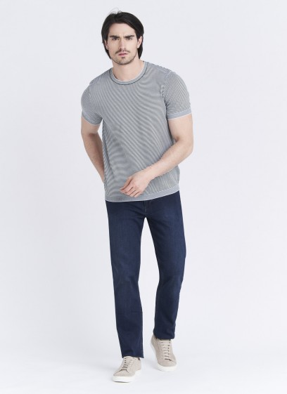 Short-sleeved knitted cotton sweater by Emmanuelle Khanh