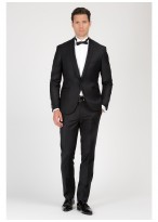 Shawl collar slim-fit tuxedo Emmanuelle Khanh 01 - Black
