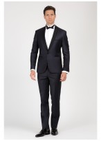 Shawl collar slim-fit tuxedo Emmanuelle Khanh 88 - Marine blue