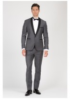 Shawl collar slim-fit tuxedo Emmanuelle Khanh 24 - Anthracite grey