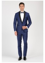 Shawl collar slim-fit tuxedo Emmanuelle Khanh 84 - Denim blue