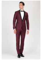Shawl collar slim-fit tuxedo Emmanuelle Khanh 56 - Bordeaux