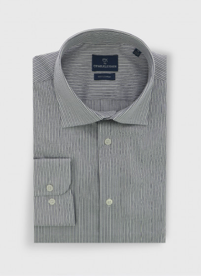 Cotton slim fit shirt by Emmanuelle Khanh