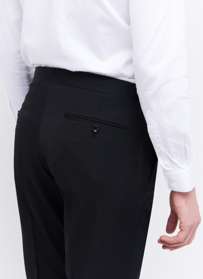 Slim fit trousers by Emmanuelle Khanh _ Black pain _ 01 - Black