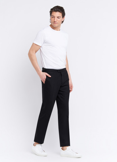 Slim fit trousers by Emmanuelle Khanh _ Black pain _ 01- Black