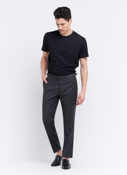 Slim fit trousers by Emmanuelle Khanh _ Anthracite grey _ 24 - Anthracite grey
