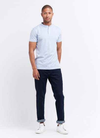 Mao collar T-shirt by Charles Le Golf
