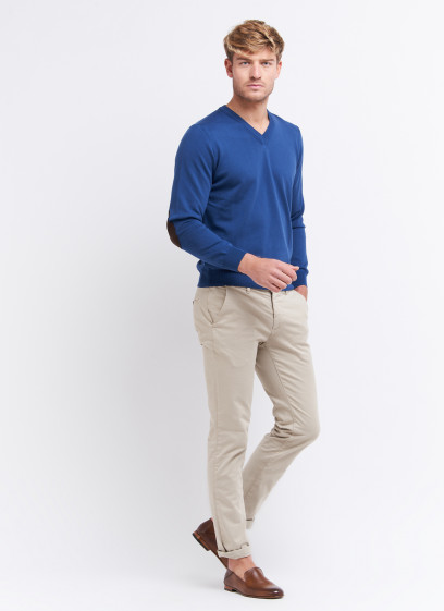 V neck sweater in cotton by Charles Le Golf