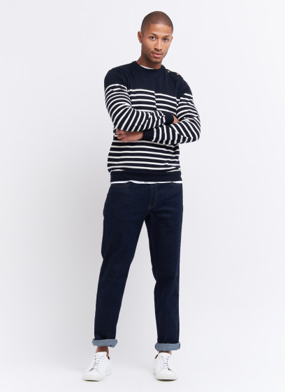 Striped cotton sweater by Charles Le Golf