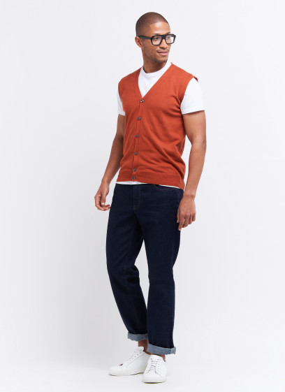 Sleeveless cardigan by Charles Le Golf