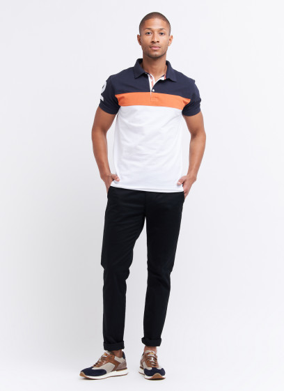 Color-block polo shirt by Charles Le golf
