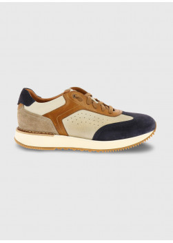 Charles Le Golf bi-material chunky-sole trainers