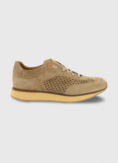 Charles Le Golf thick-soled leather sneaker