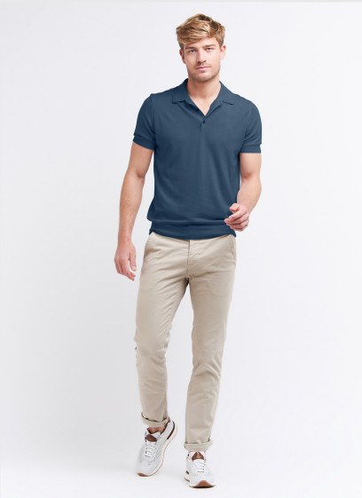 Fine knit polo shirt by Charles Le Golf