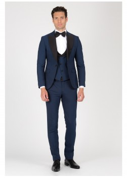 Three-pieces peak lapel tuxedo Emmanuelle Khanh