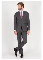 Regular fit suit T.G di Fabio Flecked grey - 61U60/1/60
