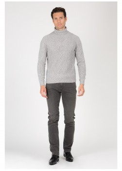 Turtle-neck sweater in blend wool Emmanuelle KhanhKhanh