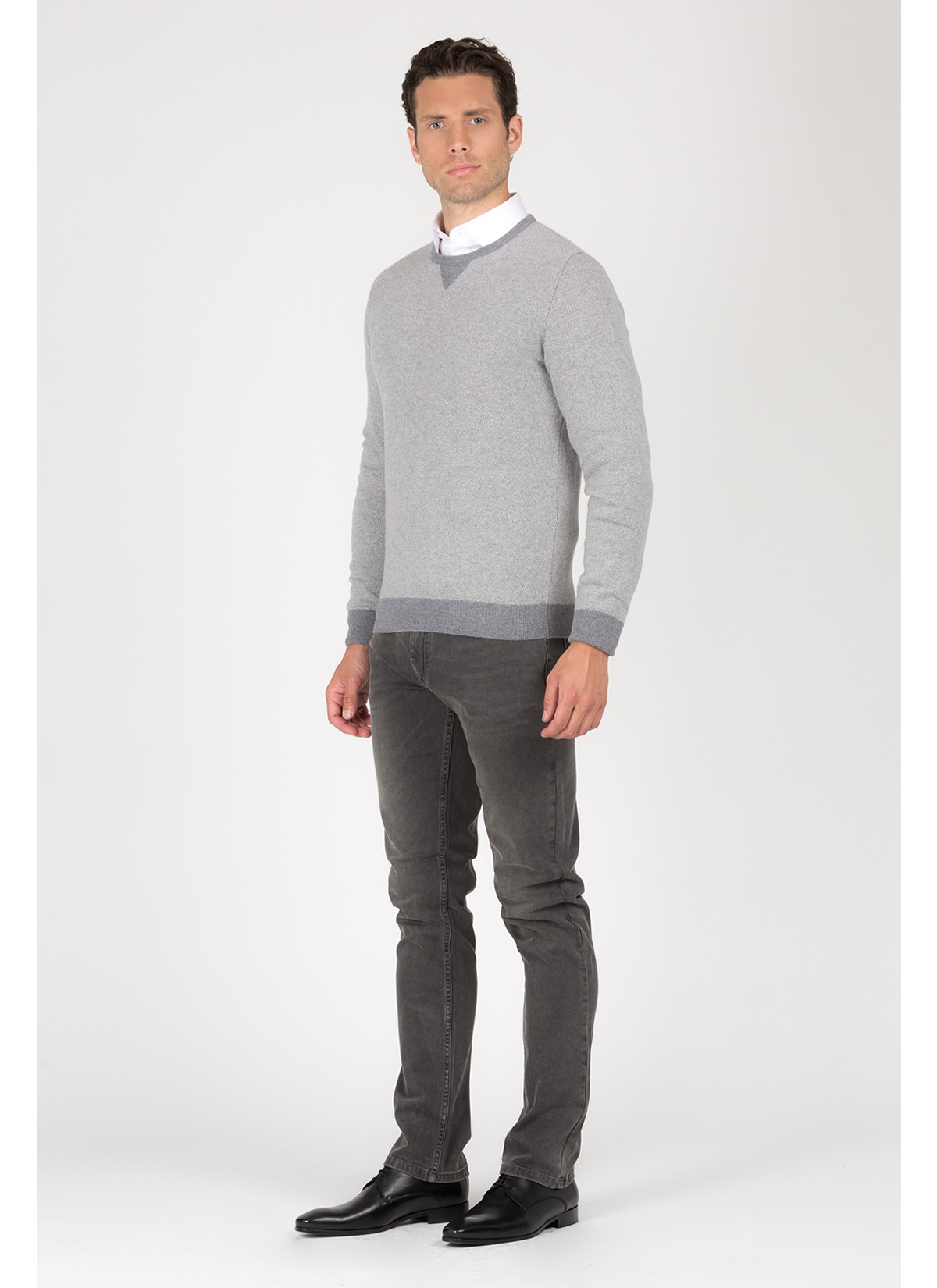 Round neck sweater in blend wool with cashmere Emmanuelle Khanh