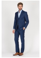 Regular fit suit T.G di Fabio Royal blue - 61U60/1/80