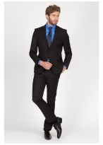 Slim Fit suit Sevenson 01 - Black