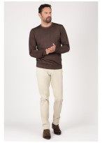 Round neck sweater in merino wool Emmanuelle Khanh