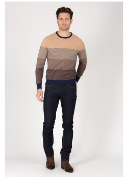 striped pattern sweater in blend wool Emmanuelle Khanh