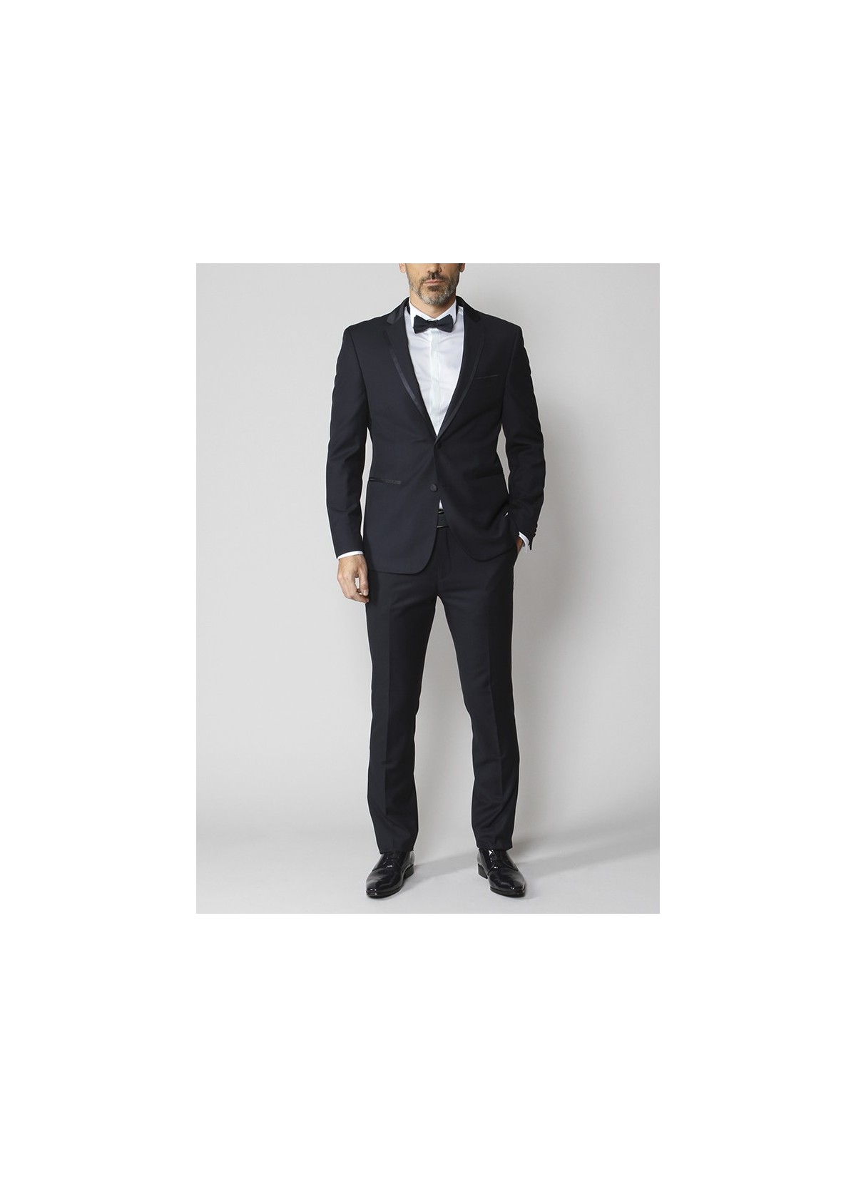 Smoking Noir droit Slim fit SEVENSON