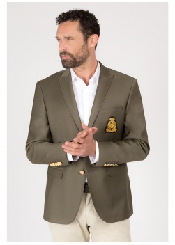 Semi-Slim Fit blazer with badge by Emmanuelle khanh