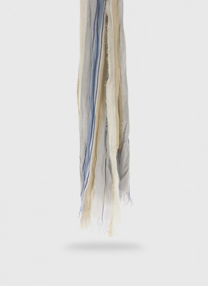Wrinkle-effect striped pattern scarf Emmanuelle Khanh