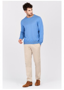 Round neck sweater in cotton Emmanuelle Khanh