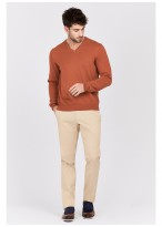 V neck sweater in cotton Emmanuelle Khanh