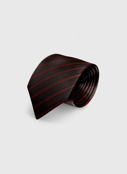 Club stripes silk tie by Emmanuelle Khanh