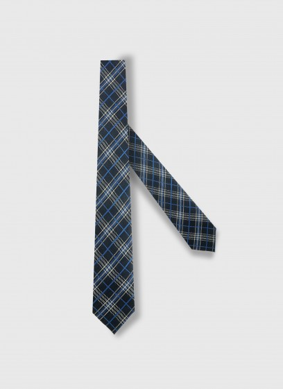 checkered PATTERN SILK TIE EMMANUELLE KHANH