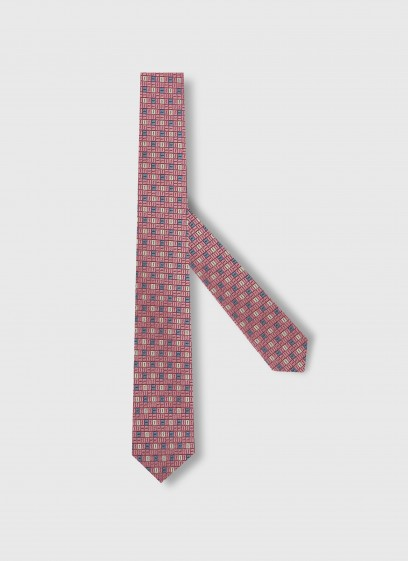 Fancy pattern silk tie Emmanuelle Khanh