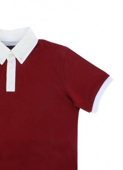 POLO ROUGE - COL CHEMISE