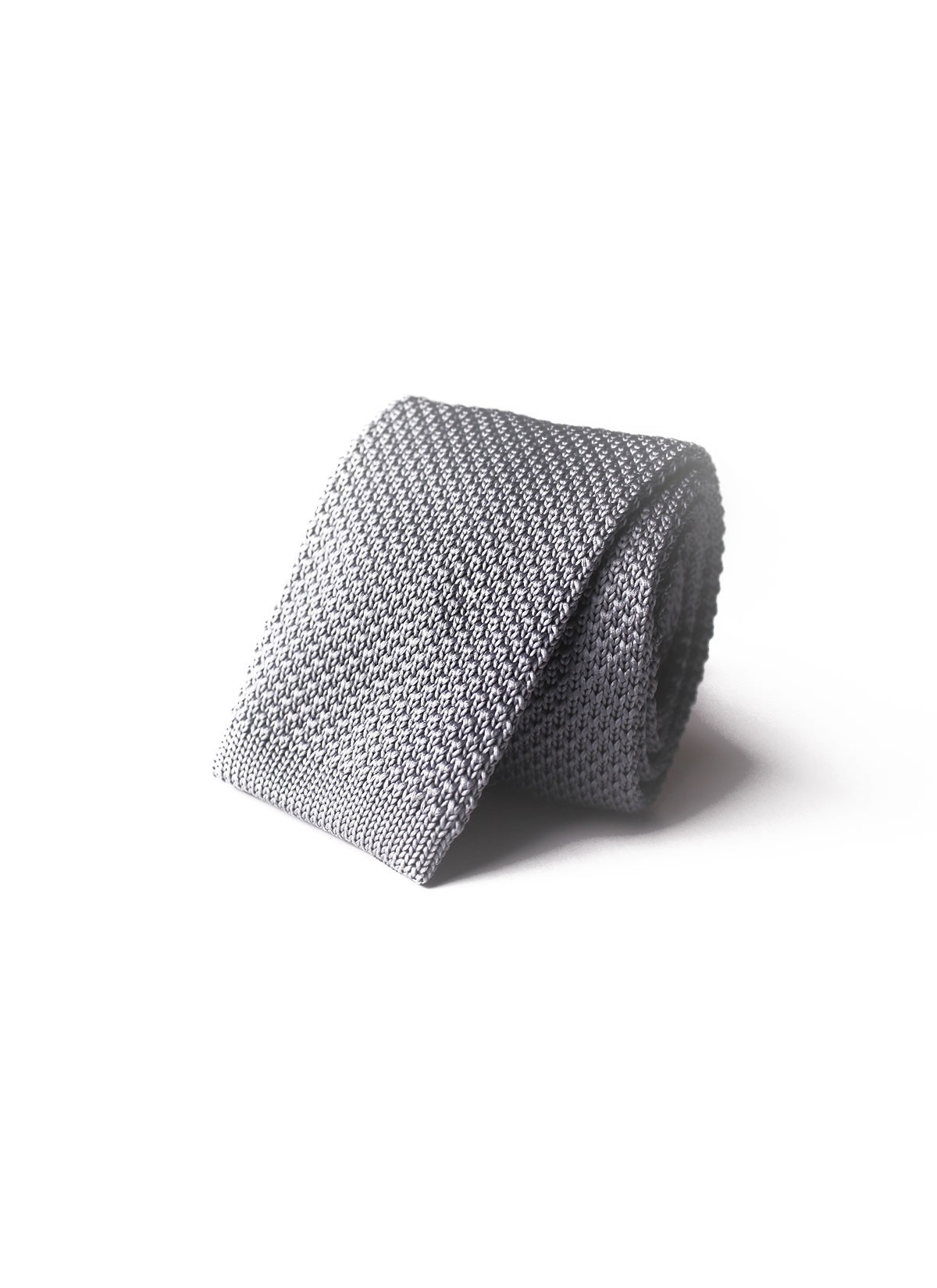 IRIDESCENT GRAY KNITTED TIE EMMANUELLE KHANH