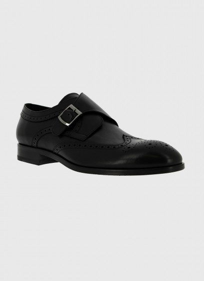 Leather buckle shoe by Sevenson