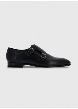Double buckle  leather shoe by Sevenson