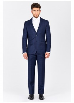 Regular fit suit Cloth Dormeuil  88 - Marine blue