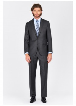 Regular fit suit Lanificio F.ILLI Cerruti DAL 1881 Gris anthracite - 8118/247/4