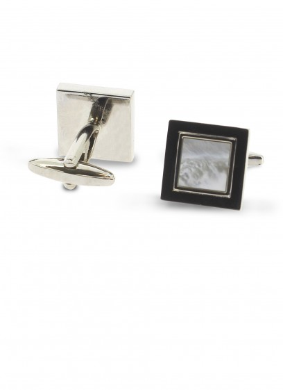 Pearly square cufflinks Emmanuelle Khanh