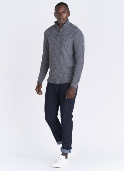 Emmanuelle Khanh blend-wool zipped collar sweater