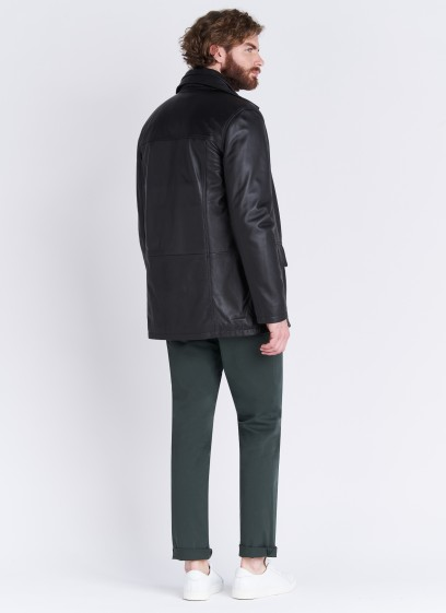 lamb leather coat Emmanuelle Khanh