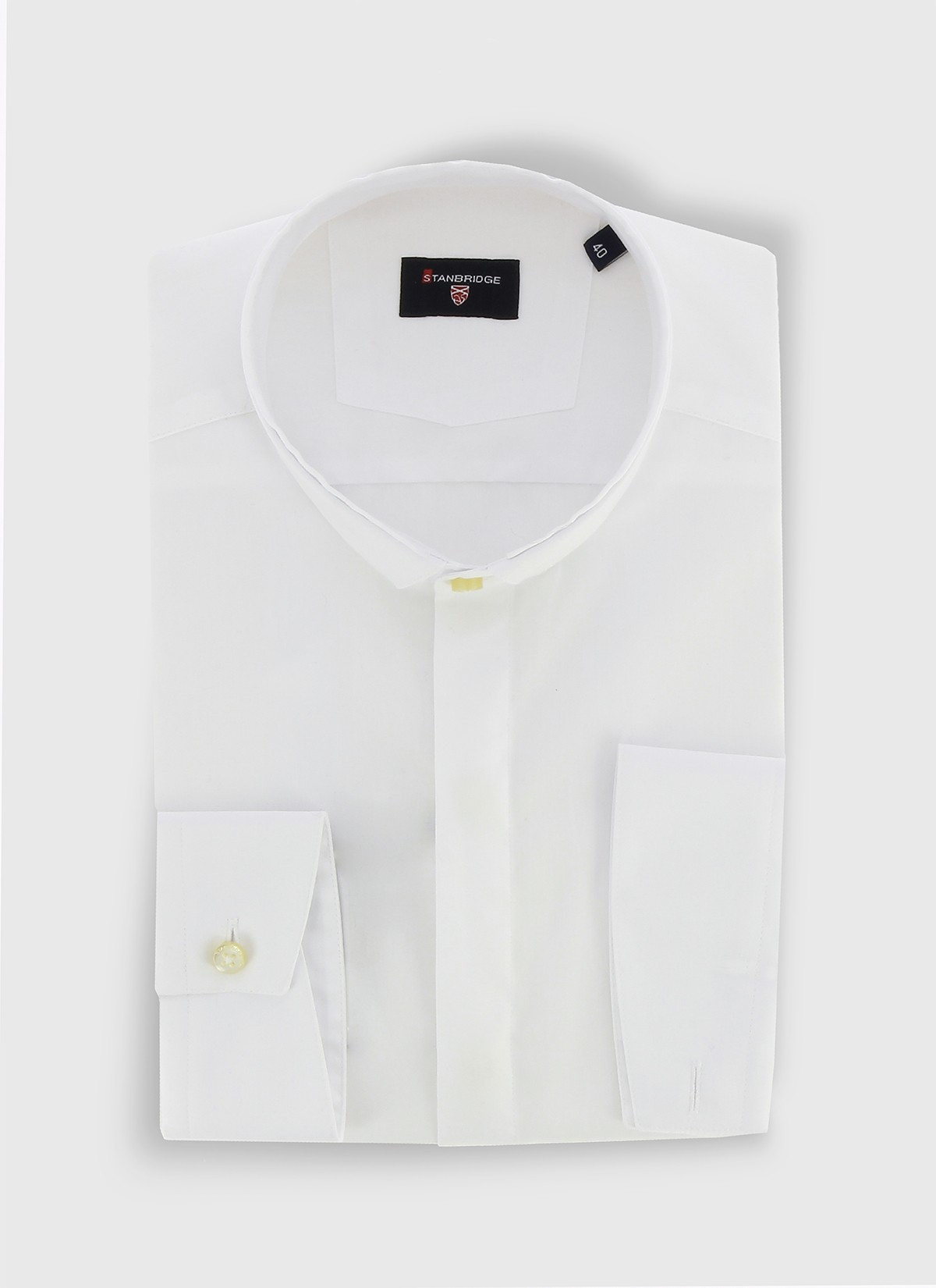 STANBRIDGE mao collar slim fit shirt